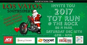 Los Vatos Southsiders Present The 2017 Toy Run @ The Rock