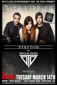 13th Floor Entertainment & The Rock Present Sick Puppies & Devour the Day