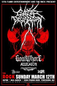 13th Floor Ent & The Rock Present Cattle Decapitation, Goatwhore, Allegaeon