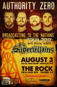 Authority Zero with The Supervillains at The Rock