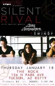Rock 102.1 KFMA & The Rock Present Silent Rival W/Special Guests