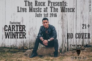 The Rock Presents Carter Winter at The Wreck @ The Wreck   Tucson   Arizona   United States