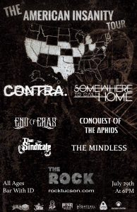 The American Insanity Tour Ft. Contra. & Somewhere To Call Home