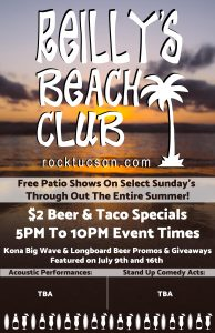 Reilly's Beach Party FREE Patio Bash/ Open Mic Night